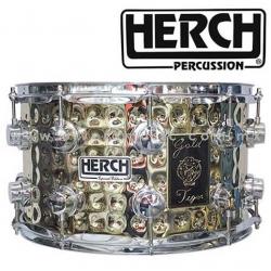 Herch Mod.Gold Tiger tarola 8x14 pulgadas