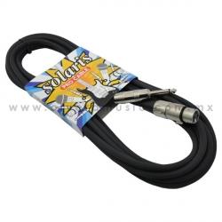 Cable Solaris para Micrófono Con Plug 1/4
