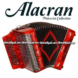 ALACRAN Acordeón Diatonico de Boton Modelo 3112 - Rojo