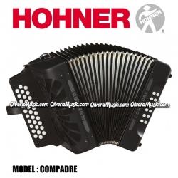 Hohner Mod.Compadre COG-BLK acordeón diatónico