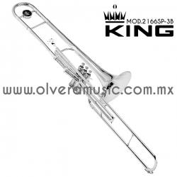 King Mod.2166SP-3B trombón terminado plata tono de Sib
