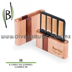 Bambú Mod.RB-** guarda cañas para saxofón soprano/clarinete Sib (8 piezas)