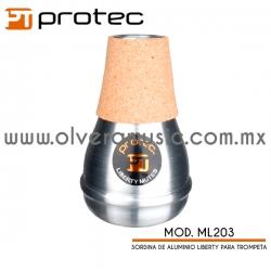 Protec Mod.ML203 Liberty sordina de aluminio mute para trompeta