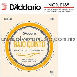D´Addario Mod.EJ85 encordado de bronce fosforado para bajo quinto (.026-.078)