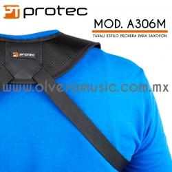 Protec Mod.A306M tahalí estilo pechera para saxofón
