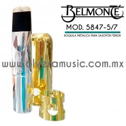 Belmonte Mod.5847 boquilla para saxofón tenor metálica