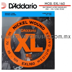 D´Addario Mod.EXL160 encordado de acero niquelado para bajo eléctrico