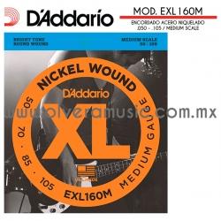 D´Addario Mod.EXL160M encordado de acero niquelado para bajo eléctrico