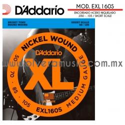 D´Addario Mod.EXL160S encordado de acero niquelado para bajo eléctrico
