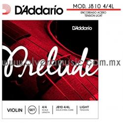 D´Addario Mod.J810 4/4L Prelude encordado de acero sólido para violín