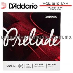D´Addario Mod.J810 4/4M Prelude encordado de acero sólido para violín