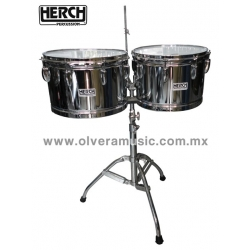 "Timbales Herch Cromados Lisos 14"" y 15"""